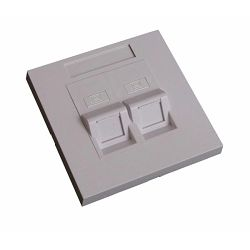 EuroLan modular wall sockets UTP into a wall