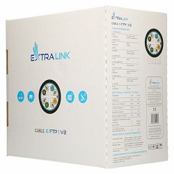 ExtraLink Cat6A (S FTP) Indoor Twisted pair 305M LSZH