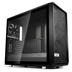 Kućište Fractal Meshfy S2 Black TG Light, crno bez napaja.