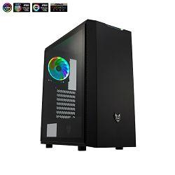Kućište Fortron CMT 350 TG, RGB, crno sa staklom,bez napaj