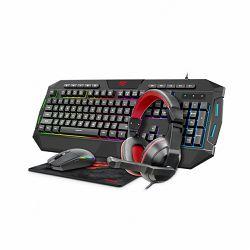 Gaming Set GAMENOTE KB501CM COMBO 4u1 - tipkovnica, slušalice, miš, podloga