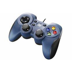 Logitech F310 gamepad, sivoplavi/crni