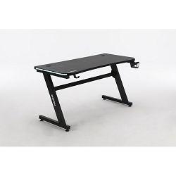 Gaming stol NEON eSports Gamer Elite, LED RGB, držač za čašu, držač za slušalice, držač za gamepad, 136cm, crni