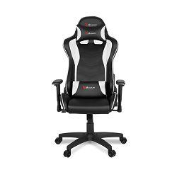 Gaming stolica AROZZI Mezzo V2, tkanina, crno-bijela