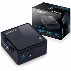 Računalo GIGABYTE BRIX kit Intel Braswell N3160, DDR3L SODIMM max 8GB, 2.5inch HDD/SSD slot, SD card slot, WiFi+BT