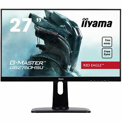 Monitor IIYAMA RED EAGLE  G-MASTER GB2760HSU-B1Red Eagle – join the PRO squad Diagonal 27