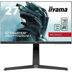 Monitor IIYAMA GB2770QSU-B1 G-Master Red Eagle, FreeSync PremiumPro, 2560x1440@165Hz, 400cd/m2, 1000:1, HDMI, DisplayPort, 0,5ms (GTG), HDR400, Speakers, USB-HUB (2x3.0), Black Tuner, Heig