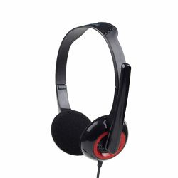 Stereo headset, glossy black
