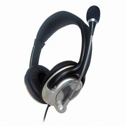 Stereo headphones with microphone and volume control