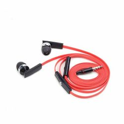 Earphones with microphone and volume control,
