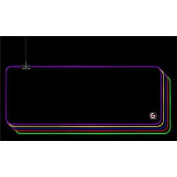 Gembird Gaming mouse pad with LED light effect, Large-size