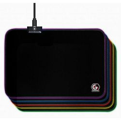 Gembird Gaming mouse pad with LED light effect, Medium-size