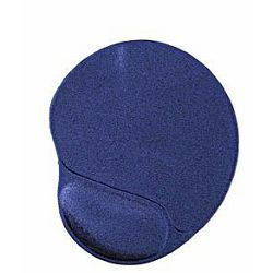 Gel mouse pad with wrist support, blue