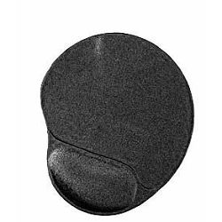 Gel mouse pad with wrist support, black
