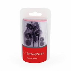 Gembird Stereo earphones, gold-plated 3.5 mm jack, metal, black