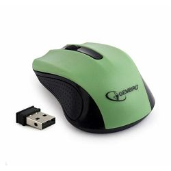 Wireless optical mouse, green