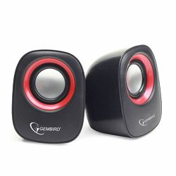 Stereo speaker, black red
