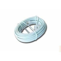 Gembird Telephone cord 6P4C, 5 meters, white