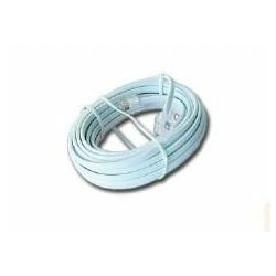 Gembird Telephone cord 6P4C, 7,5 meters, white
