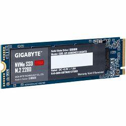 GIGABYTE SSD 128GB, M.2 2280, NVMe 1.3 PCI-Express 3.0 x4, 3D NAND TLC, 1550MBs/550MBs, 5Yr., Retail
