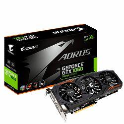 Grafička kartica GeForce GTX 1060 AORUS EDITION GDDR5 9Gbps 6GB/192bit, 1607MHz/9026MHz, PCI-E 3.0 x16, HDMI, DVI-D, 3xDP, WINDFORCE 2X Cooler RGB (Double Slot), Backplate, Retail