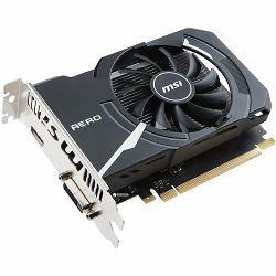 Grafička kartica MSI GeForce GT 1030 OC GDDR5 2GB/64bit, 1265MHz/6008MHz, PCI-E 3.0 x16, HDMI, DVI-D, AERO ITX fan Cooler (Double Slot), Retail