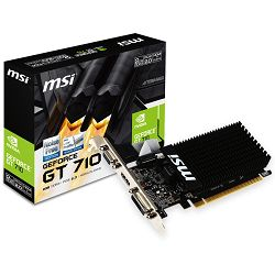 Grafička kartica MSI GeForce GT 710 DDR3 2GB/64bit, 954MHz/1600GHz, PCI-E 2.0 x16, HDMI, DVI-D, VGA Heatsink, Low-profile, Retail
