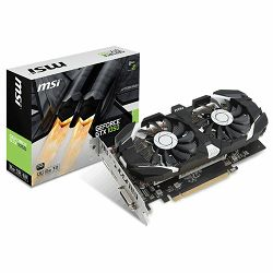 Grafička kartica MSI Video Card GeForce GTX 1050 OC GDDR5 2GB/128bit, 1404MHz/7008MHz, PCI-E 3.0 x16, DP, HDMI, DVI-D, Sleeve 2X Fan Cooler (Double Slot), Retail