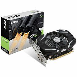 Grafička kartica MSI GeForce GTX 1050 Ti OC GDDR5 4GB/128bit, 1341MHz/7008MHz, PCI-E 3.0 x16, DP, HDMI, DVI-D, Sleeve Fan Cooler (Double Slot), Retail