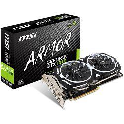 Grafička kartica MSI GeForce GTX 1060 GDDR5 6GB/192bit, 1544MHz/8008MHz, PCI-E 3.0 x16, 2xDP, 2xHDMI, DVI-D, ARMOR 2X Cooler(Double Slot), Retail