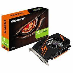 Grafička kartica GIGABYTE GeForce GT 1030 OC GDDR5 2GB/64bit, 1265MHz/6008MHz, PCI-E 3.0 x16, HDMI, DVI-D, Cooler, Retail