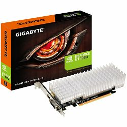 Grafička kartica GIGABYTE GT1030 2GB DDR5 GV-N1030SL-2GL, Vidia, PCIE, GPU:1227/1468 / 1252/1506MHz, RAM:6008MHz, 2048MB, DDR5, 64bit,1xDVI, 1xHDMI, LP