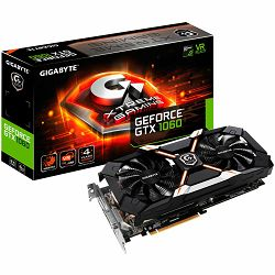 Grafička kartica GIGABYTE GeForce GTX 1060 XTREME GAMING GDDR5 6GB/192bit, 1620MHz/8164MHz, PCI-E 3.0 x16, HDMI, DVI-D, 3xDP, WINDFORCE 2X Cooler RGB (Double Slot), Backplate, Retail