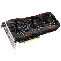 Grafička kartica GIGABYTE GeForce GTX 1080 GAMING GDDR5 8GB/256bit, 1695MHz/10010MHz, PCI-E 3.0 x16, HDMI, DVI-D, 3xDP, WINDFORCE 3X Cooler(Double Slot), Retail