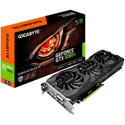 Grafička kartica GIGABYTE GeForce GTX 1080 Ti GAMING OC BLACK EDITION GDDR5X 11GB/352bit, 1518MHz/11010MHz, PCI-E 3.0 x16, HDMI, DVI-D, 3xDP, WINDFORCE 3X Cooler RGB(Double Slot), Retail