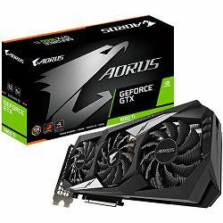 Grafička kartica GIGABYTE Video Card NVidia GeForce GTX 1660 Ti AORUS GDDR6 6GB/192bit, 1890MHz/12000MHz, PCI-E 3.0 x16, HDMI, 3xDP, WINDFORCE 3X Cooler (Double Slot) RGB Fusion, Metal Backplate