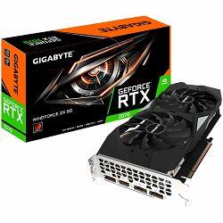 GIGABYTE Video Card NVidia GeForce RTX 2070 GDDR6 8GB/256bit, 1620MHz/14000MHz, PCI-E 3.0 x16, HDMI, 3xDP, WINDFORCE 2X Cooler (Double Slot) Backplate, Retail