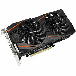Grafička kartica GIGABYTE AMD Radeon RX 480 GAMING GDDR5 4GB/256bit, 1290MHz/7000MHz, PCI-E 3.0, 3xDP, HDMI, DVI-D, WINDFORCE 2X Cooler RGB(Double Slot), Backplate, Retail
