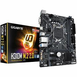 Matična ploča GIGABYTE Main Board Desktop H310 (S1151, 2xDDR4, HDMI, VGA, 1xPCIex16, 2xPCIex1, ALC887, Realtek 8118 Gaming LAN, 4xSATA III, M.2, USB 3.1, USB 2.0) mATX retail