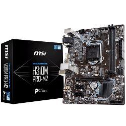 Matična ploča MSI H310M PRO-M2(S1151, DDR4, USB3.1,USB2.0, SATA III,M.2, HDMI, DVI-D, VGA - Requires Processor Graphics, 8-Channel(7.1) HD Audio with Audio Boost, Intel I219-V Gigabit LAN) mATX Retail