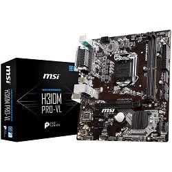 Matična ploča MSI Main Board Desktop H310 (S1151, DDR4, PCI-Ex16, 2xPCI-Ex1, USB3.1, USB2.0, SATA III, VGA, RealtekALC887 Audio, Serial port, Parallel port, GLAN) mATX Retail