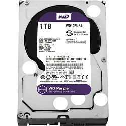 Tvrdi disk HDD WD Purple (3.5, 1TB, 64MB, 5400 RPM, SATA 6 Gb/s)
