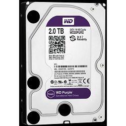 Tvrdi disk HDD WD Purple (3.5 Surveillance Hard Drive, 2TB, 64MB, RPM IntelliPower, SATA 6 Gb/s)
