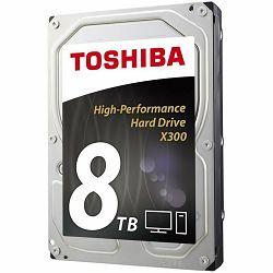 HDD Desktop Toshiba X300 (3.5 8TB, 7200RPM, 256MB, SATA 6Gb/s), bulk