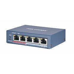 HikVision 4-Port 100Mbps RJ45 PoE (60W) 1x 100Mbps RJ45 Unmanaged Switch