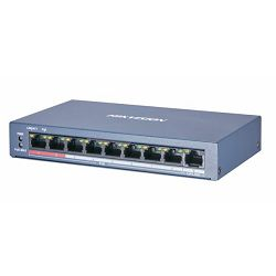 HikVision 8-Port 100Mbps RJ45 PoE (60W) 1x 100Mbps RJ45 Unmanaged Switch