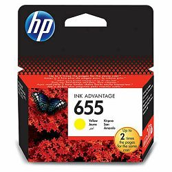 Tinta HP  655 Yellow Ink Cartridge
