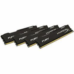 Memorija Kingston 32GB 2400MHz DDR4 CL15 DIMM (Kit of 4) HyperX FURY Black, EAN: 740617240672