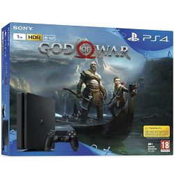 Igraća konzola SONY PlayStation 4, 1000GB, E Chassis, God of War, crna
