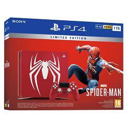 Igraća konzola SONY PlayStation 4 Limited Edition, 1000GB, F Chassis, Marvel's Spiderman, crvena + Gamepad SONY PlayStation 4, DualShock 4 v2, bežični, crni